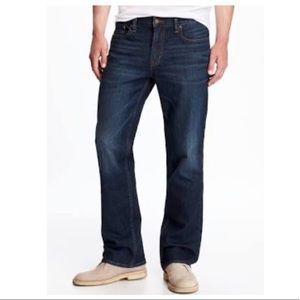 Men's old navy bootcut built in flex jeans 31 x 30